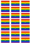 Argentina Gay Pride Flag Stickers - 21 per sheet